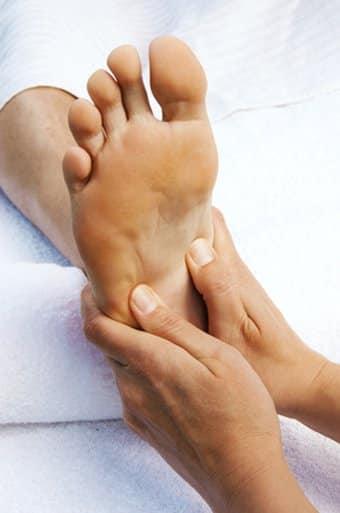 Fußreflexzonen, Massagepunkte der Fußreflexzonen - Fußreflexzonen Massage